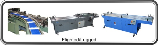 Flighted/Lugged conveyors for sheet-fed and booklet processing