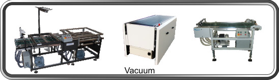 Vacuum conveyors for sheet-fed processing
